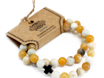 Selling: 2 x Loyalty - Amazonite & Yellow Jasper