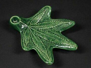Post Now: Miles Ceramics Ceramic Cannabis Leaf Hand Pipe