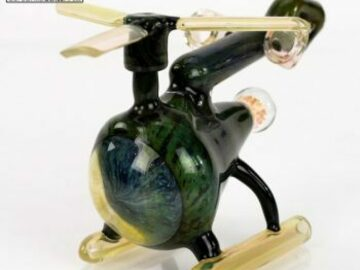 Post Now:  Glass – Helicopter Lineworked Green Copter Concentrate Rig