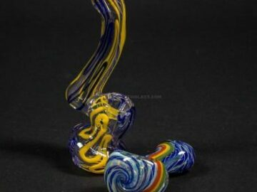 Post Now: No Label Glass Mini Sherlock Bubbler and Spoon Hand Pipe