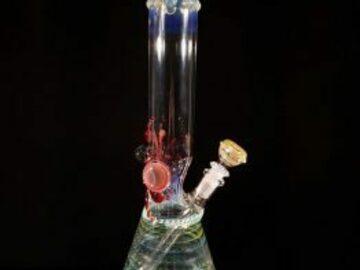 Post Now: 16.5″ Heady Fume Work Beaker Bong w/ 14mm Downstem and Slide – #3