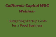 Announcement: Budgeting Startup Costs for a Food Based Business