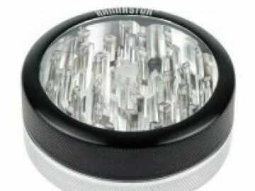 Post Now: 2.5 inch Aluminium 2-part Grinder Black Silver Clear Top