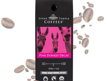 Selling products with online payment: Stone Temple Coffees - Pink Donkey Decaf, Whole Bean