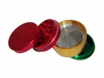 Post Now: Grinder 2.5″ 4 Piece W/ Pollen Collector #Gr12 Rasta Pack Of 1