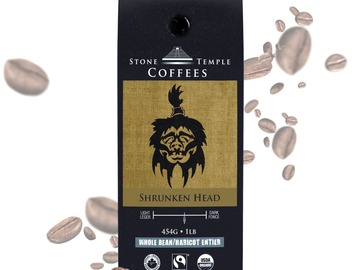 Selling products with online payment: Stone Temple Coffees - Shrunken Head, Whole Bean
