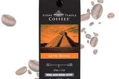 Selling products with online payment: Stone Temple Coffees - Aztec Ritual, Whole Bean