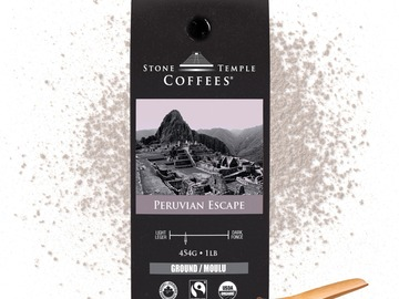 Selling products with online payment: Stone Temple Coffees - Peruvian Escape, Ground