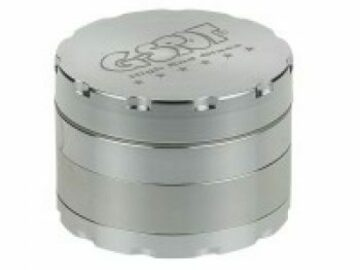 Post Now: G-Spot – Aluminum Magnetic Herb Grinder Silver 4 Part 62mm