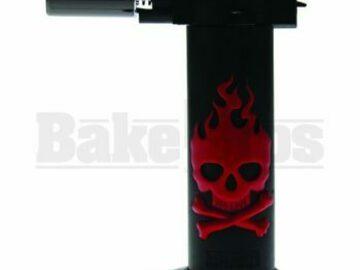 Post Now: Newport Zero Lighter Torch (Skulls) Nbt034 Red Pack Of 1 6″