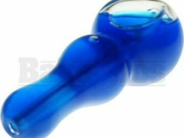 Post Now: Hand Pipe Liquid Filled 4″ Blue