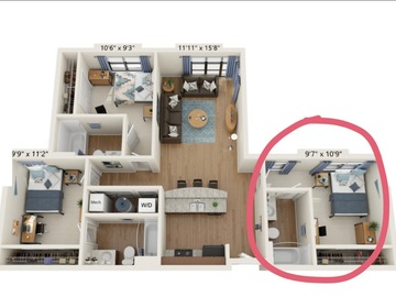 List Your Space: 1br in The Varsity 3x3