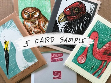 Selling with online payment: Custom Card Collection, 5 for $5 each from Polly's Studio
