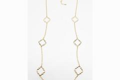 Liquidation/Wholesale Lot: Dozen Crown & Ivy Long Gold Necklaces $288 Value