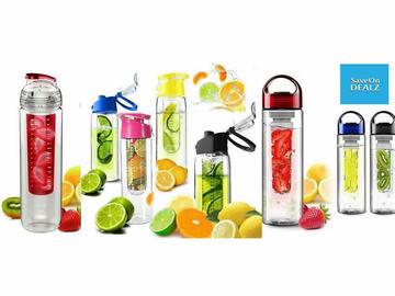 Liquidation/Wholesale Lot: Mystery Lot Fruit Infuser Water Bottle 12 pcs NEW IN BOX