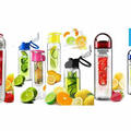 Liquidation/Wholesale Lot: Mystery Lot Fruit Infuser Water Bottle 10 pcs NEW