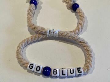 """Selling multiple of the same items: """"GO BLUE"""" Spirit Bracelet"""