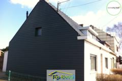 .: Gevelrenovatie met steenstrips en slidings I door Top-Bouw