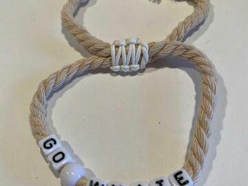 """Selling multiple of the same items: """"GO White"""" Spirit Bracelet"""