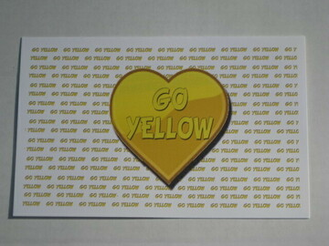 """Selling multiple of the same items: Oversized """"Go Yellow"""" Greeting Card"""