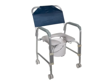 SALE: Aluminum Shower Commode with Wheels