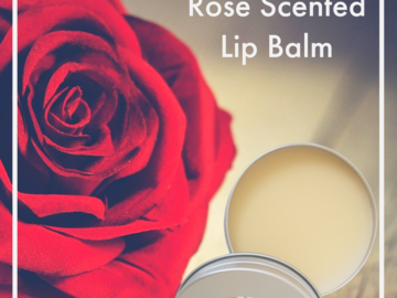 For Sale: Rose Scented Natural Lip Balm