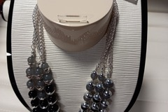 Liquidation/Wholesale Lot: Black House White Market Layered Necklace x 12 $900 Retail