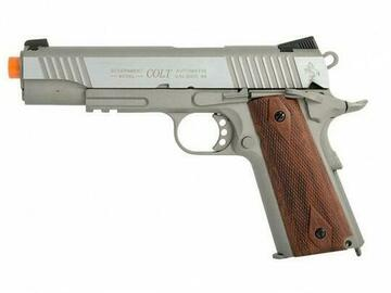 Selling: Colt 1911 .45 ACP CO2 Rail Gun Blowback Airsoft Pistol, Stainless