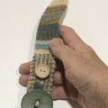 Selling with online payment:  Hand Woven Bracelet Greens and Creams