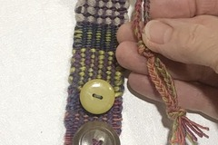 Selling with online payment: Hand Woven Bracelet in Pastel Multicolors