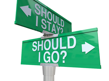Selling: should you stay or should you go
