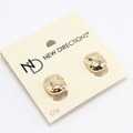 Liquidation/Wholesale Lot: Dozen New Directions Gold Hammered Clip On Earrings