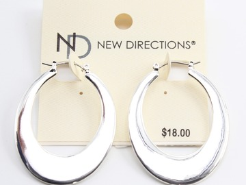 Liquidation / Lot de gros: Dozen Silver Hoop Earrings by New Directions $216 Value