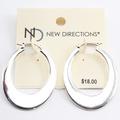 Liquidation/Wholesale Lot: Dozen Silver Hoop Earrings by New Directions $216 Value