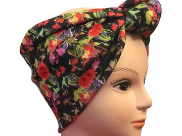 For Sale: FLORAL KNOTTED DEMI-TURBAN