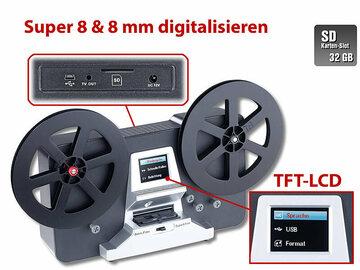 Vermieten mit Online-Zahlungen: Somikon Super 8 & 8 mm Film Digitalisierer inkl. 32GB SD Karte