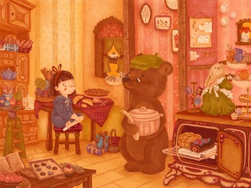 Illustration work : Children's book illustrations