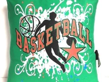 Selling A Singular Item: NEW Green BASKETBALL Themed Autograph Pillow