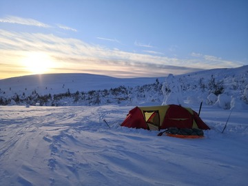 Vuokrataan (viikko): 4 vuodenajan teltta - Helsport Svalbard high 3 camp