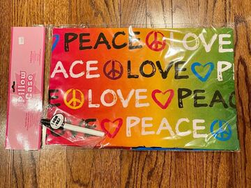 """Selling multiple of the same items: New Tiedye """"Peace and Love """" Autograph Pillowcase"""