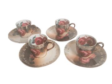 Vente: 4 Tasses à café en porcelaine