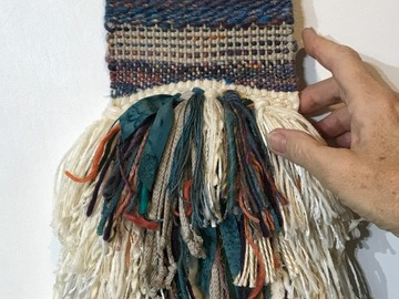 "Selling with online payment: Hand Woven Tapestry 5"" x 19"" Blue Mix"