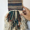 """Selling with online payment: Hand Woven Tapestry 5"""" x 19"""" Blue Mix"""