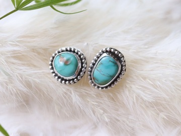 Selling: Sterling Silver Turquoise Stud Earrings