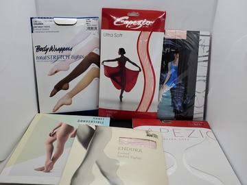 Liquidation/Wholesale Lot: Large lot of tights, many kinds & sizes all new in packaging
