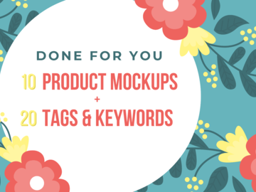 Offering online services: 10 Mockups & 20 Keywords/Tags - Bundle Pack