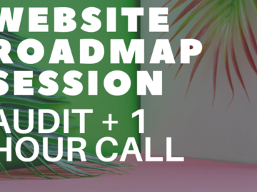 Offering expert consultation: 1 Hour Roadmap Session for Your Website or Etsy Shop