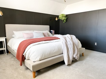 Hourly Rental: Light-filled bedroom in historic home with modern finishes