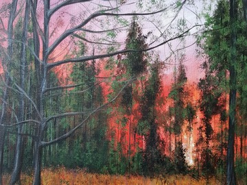 Sell Artworks: Trees on fire