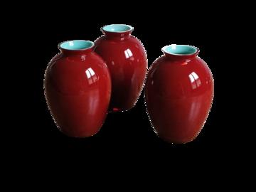 Vente: 3 petits vases Carlo Moretti